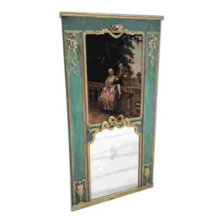 Early 19th C. French Trumeau Mirror For Sale
