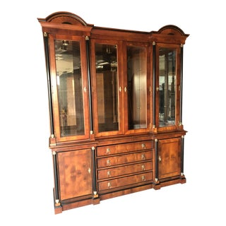 1980s Neoclassical Century Furniture Raymond Sobota Hutch For Sale