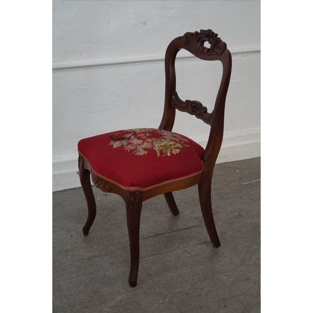 Antique Victorian Walnut Side Chair - Image 7 of 10