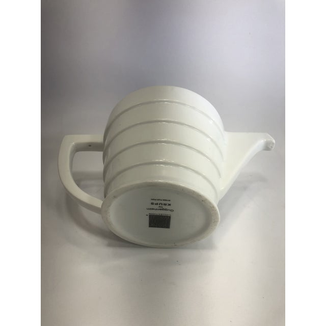 White Krup's Frank Lloyd Wright Guggenheim Collection Teapot and Salt and Pepper Shakers - Set of 3 For Sale - Image 8 of 12