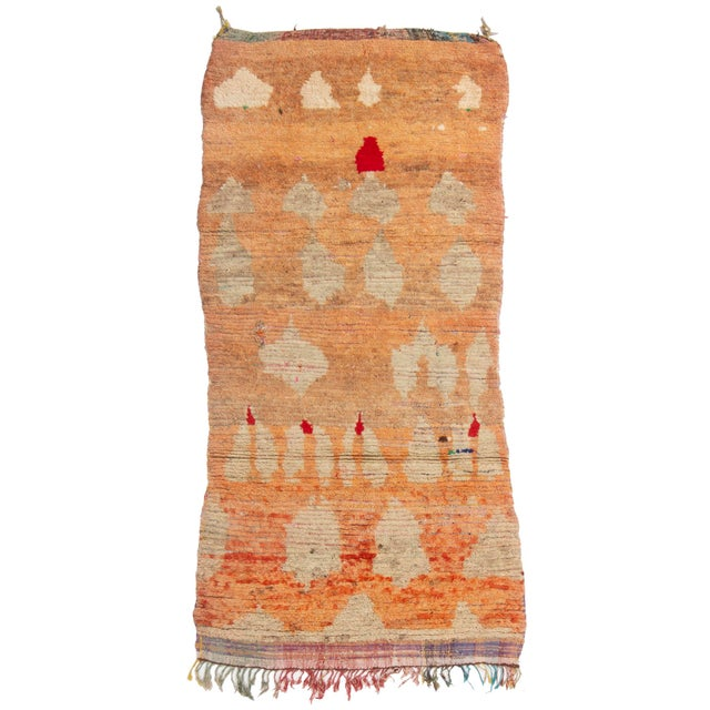 Contemporary Moroccan Berber Geometric Wool Pile Rug - 3′8″ × 7′3″ For Sale In New York - Image 6 of 6