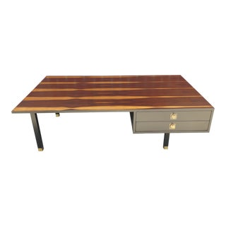 1960s Harvey Probber Brazilian Rosewood and Ebonized Walnut Coffee Table For Sale