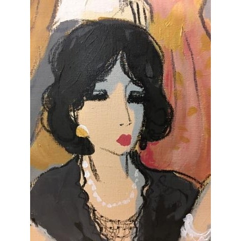 """Pink Original """"Vintage Wine"""" Painting by Isaac Maimon For Sale - Image 8 of 11"""