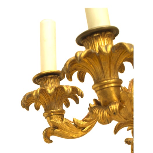 Neoclassical Pair of Lovely Charles X Gilt Bronze Wall Sconces For Sale - Image 3 of 4