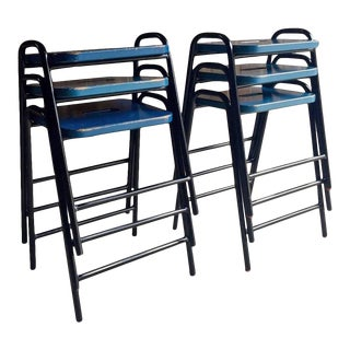 Science Lab Bar Stools Industrial - Set of 6 For Sale