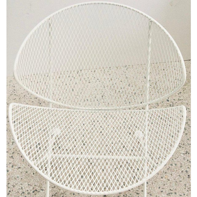 "Mid 20th Century Vintage Mid Century Salterini White Patio ""Clamshell"" Side Chair For Sale - Image 5 of 7"