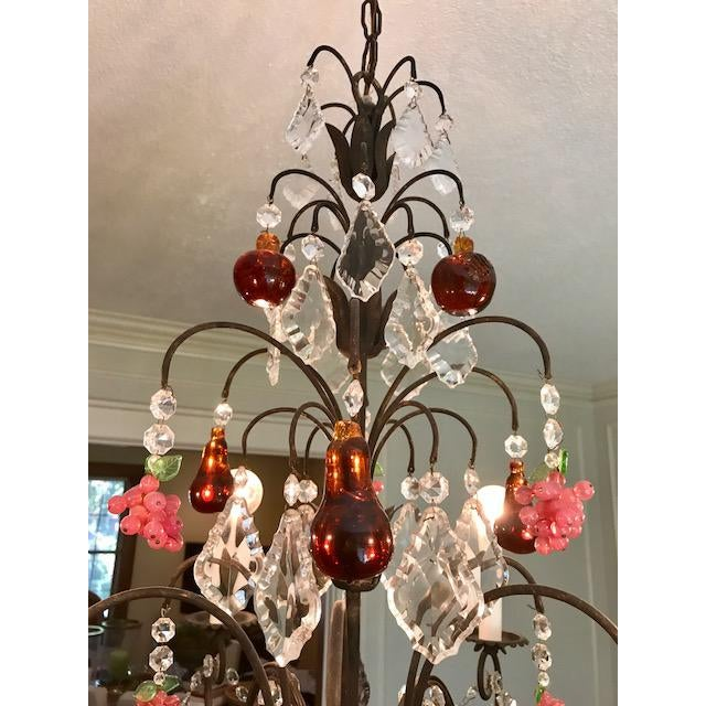 Dark Bronze Crystal Chandelier - Image 3 of 11