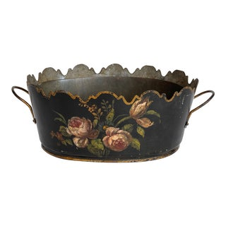 Mid 19th Century Floral Tole Monteith For Sale