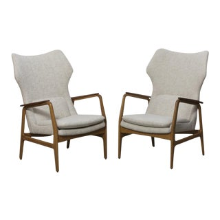 AKSEL BENDER MADSEN Highback wing lounge chair for Bovenkamp ca. 1960 For Sale