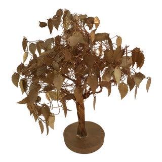 Mid-Century Brass Tree Sculpture