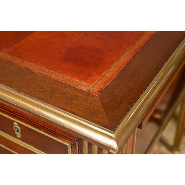 Louis XVI-Style Bronze Mounted Desk - Image 2 of 7