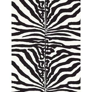 Sample, Scalamandre Zebra, Black Fabric For Sale