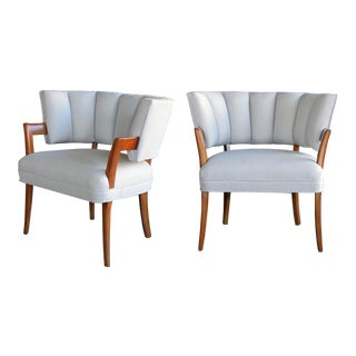 A Rare and Iconic Pair of American Art Deco Arm Chairs by Eugene Schoen (American, New York 1880-1957)