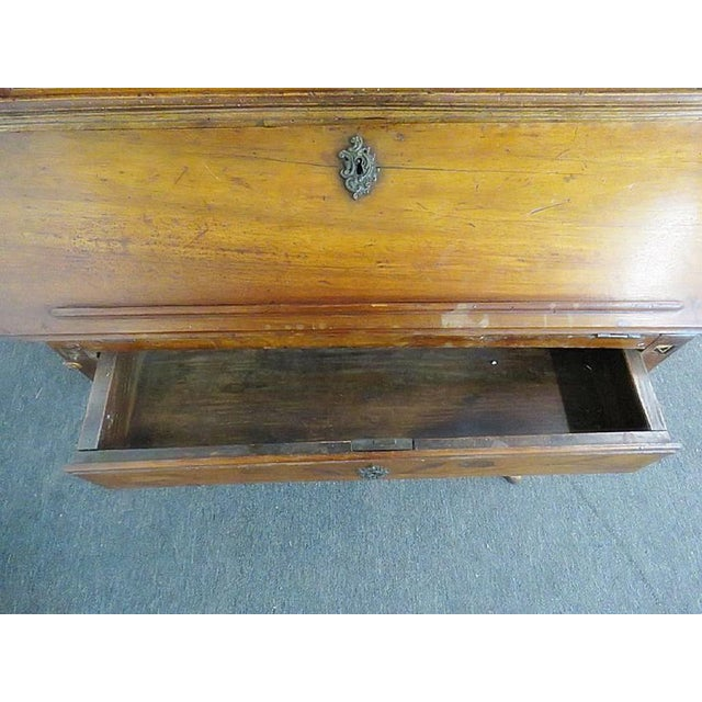 18th C. Louis XVI Style French Inlaid Secretary Desk For Sale - Image 5 of 10