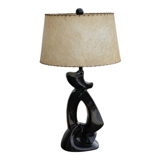 1950s Abstract Ceramic Table Lamp For Sale