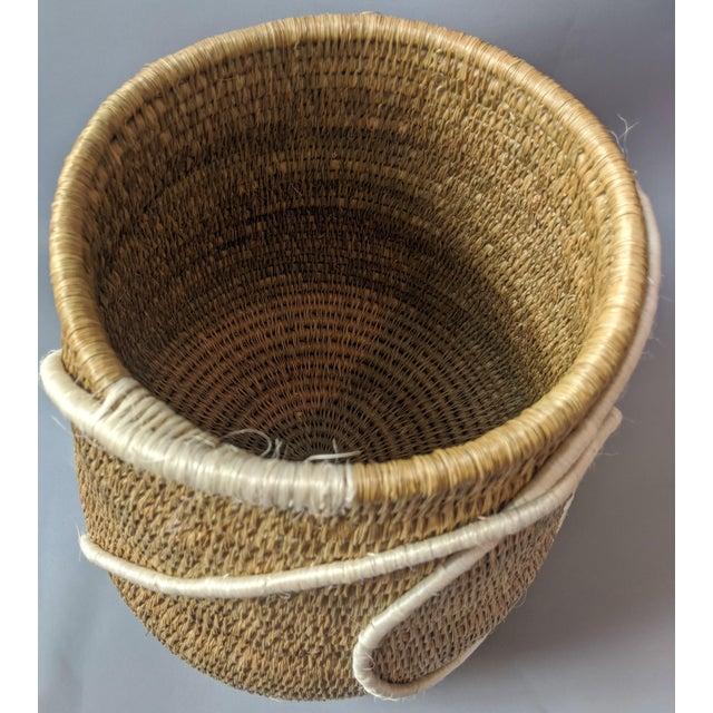 Beige Swaziland Handwoven African Basket For Sale - Image 8 of 11