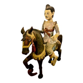 Late 19th Century Indo-Chinese Burmese Nat Figural Sculpture For Sale