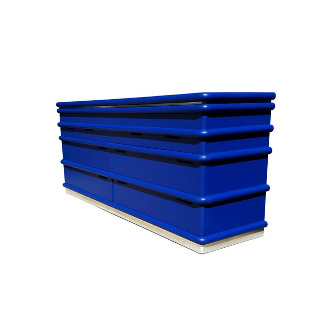 Mid-Century Modern Art Deco Blue Klein Jay Spectre Dresser - Image 4 of 6