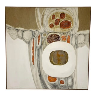 Circa 1970s Multi-Dimensional Cut Canvas Painting by Robert Gordenier, Framed For Sale