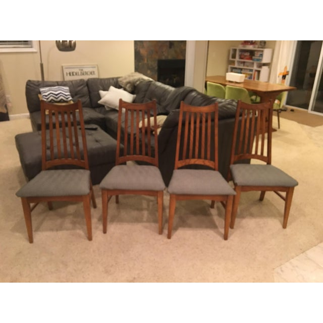 Mid-Century Modern High Back Dining Chairs - Set of 4 - Image 6 of 10