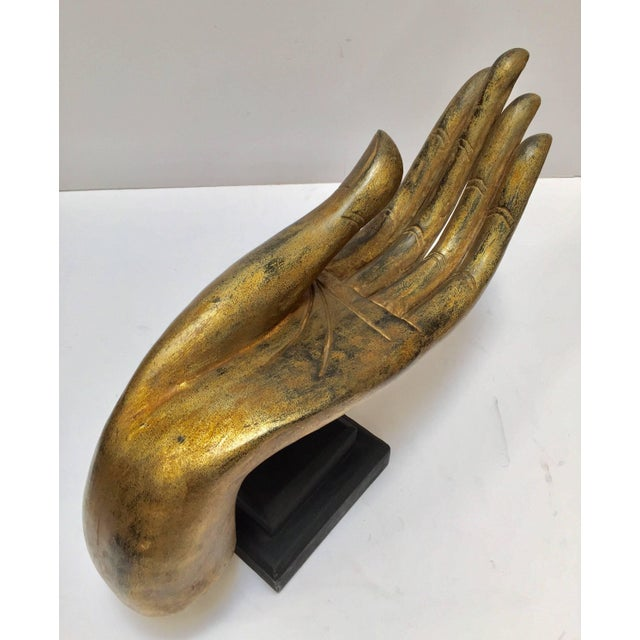 Giltwood Buddha Hand on Stand, Thailand For Sale - Image 11 of 13