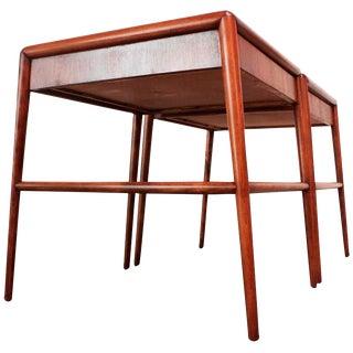 Pair of T. H. Robsjohn-Gibbings Single Drawer End Tables For Sale