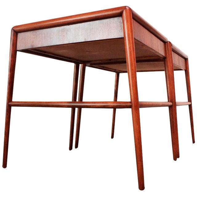 Pair of T. H. Robsjohn-Gibbings Single Drawer End Tables - Image 1 of 10