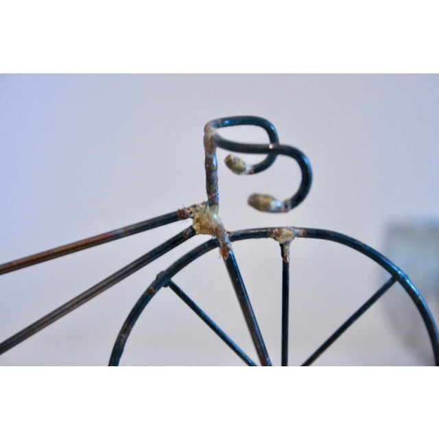 Brutalist Copper & Brass Bicycle Sculpture - Image 8 of 9