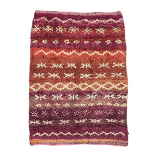 Vintage Berber Moroccan Rug with Modern Style For Sale