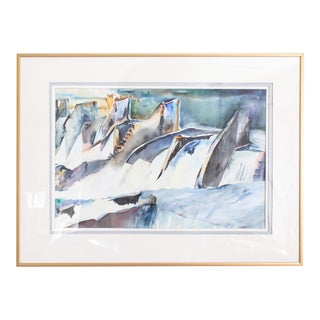 Original Pastel Watercolor Painting by Oregon Artist Ingrid Moller For Sale