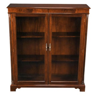 Mahogany Two Door Bookcase For Sale