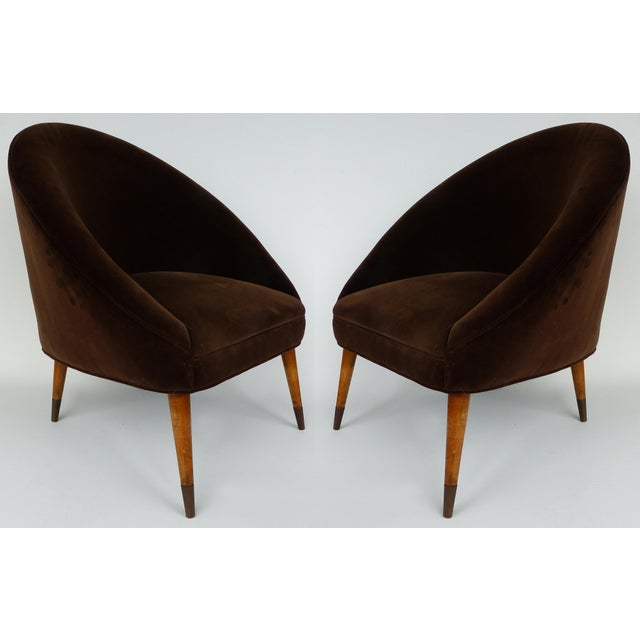 Mid-Century Gio Ponti Style Club Chairs-A Pair For Sale - Image 11 of 11