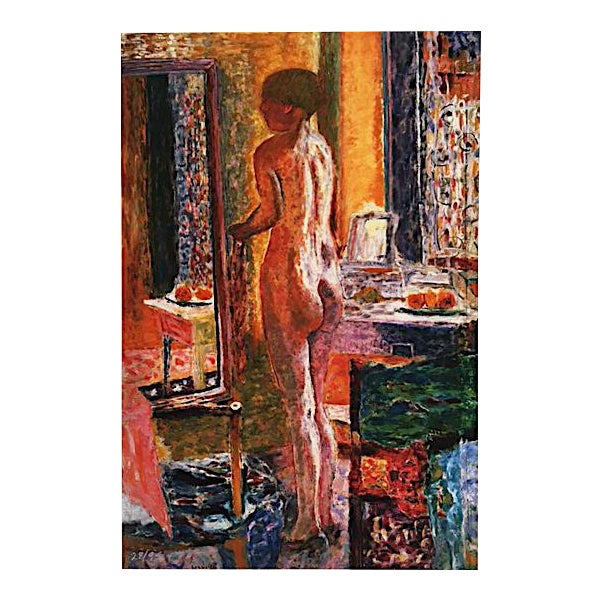 """Paper Pierre Bonnard """"Nude at Mirror"""" Print For Sale - Image 7 of 7"""