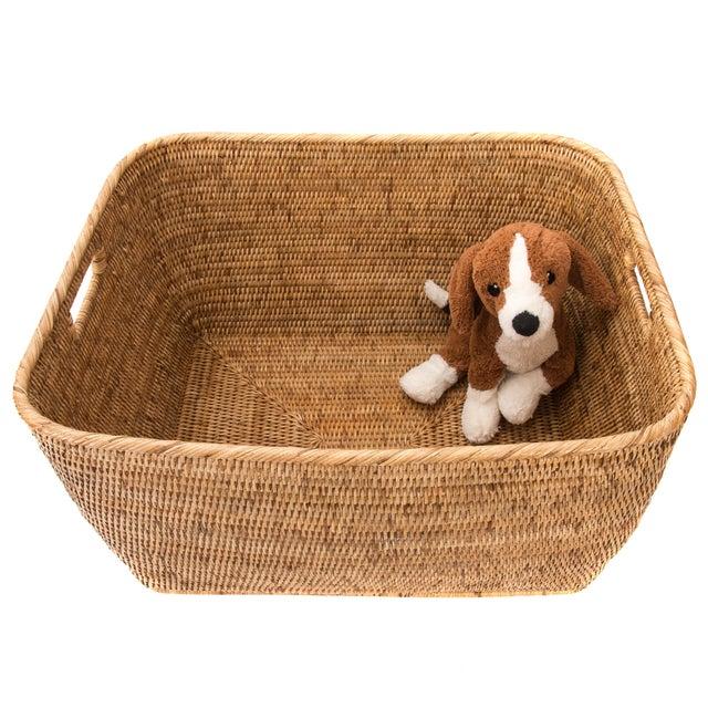 Artifacts Rattan Rectangular Basket For Sale - Image 4 of 4