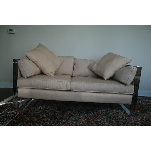 Milo Baughman Chrome Sofa and Loveseat - Image 11 of 11