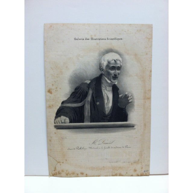"""Vintage French """"Mr. Dumeril"""" Couis De Pathologie Lithograph For Sale In Pittsburgh - Image 6 of 6"""