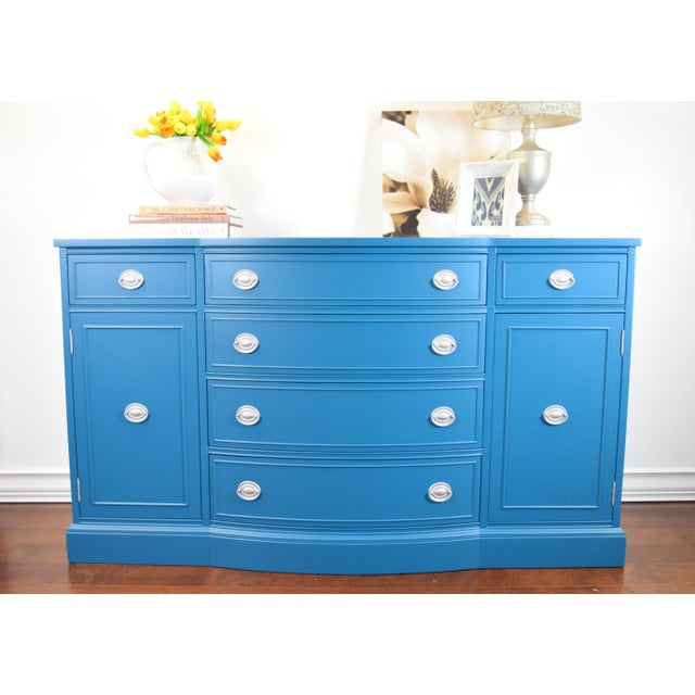 Make a statement with this Jamaican Dream blue sideboard. Original handles refinished in silver. Perfect height for a...