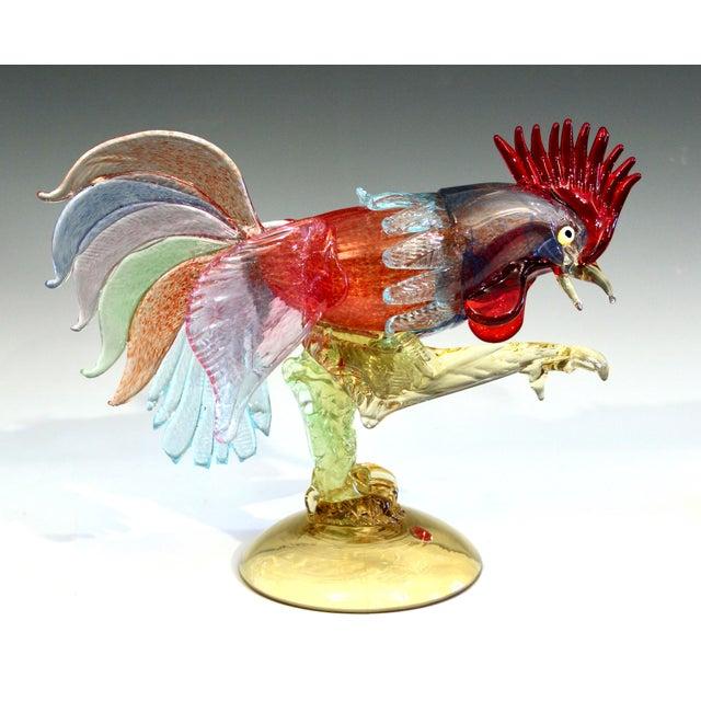 1950s Murano Italian Venetian Glass Rooster Figurine For Sale - Image 13 of 13