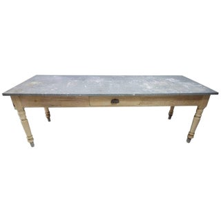 Late 19th Century Antique French Florist Table For Sale