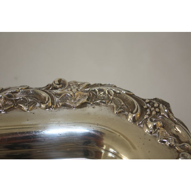 Footed Square Silver Tray - Image 5 of 5