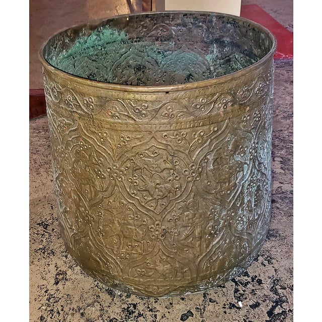 18th Century 18th Century Ornate Middle Eastern Bronze Bin For Sale - Image 5 of 13