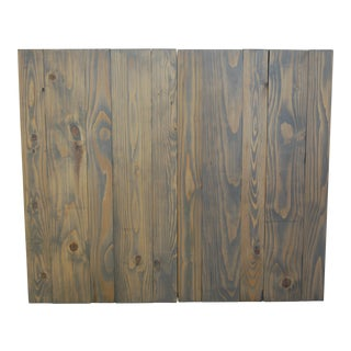 Classic Gray Oil-Based Stain Twin Headboard Hanger Style