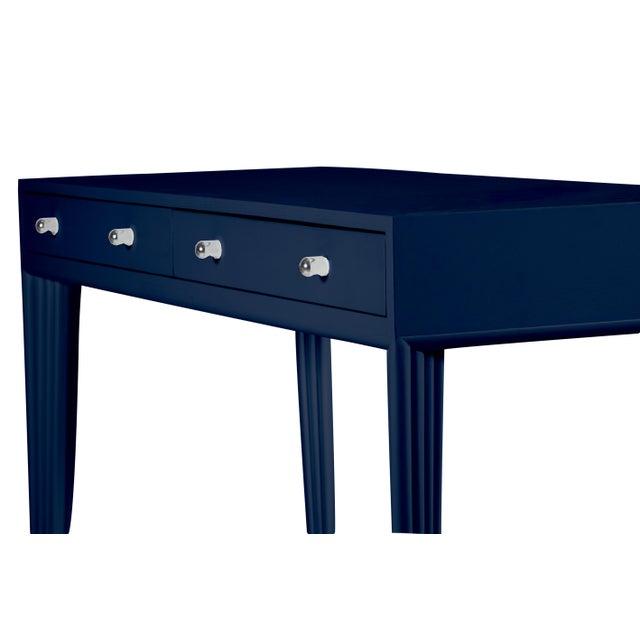 David Francis Barcelona Desk - Navy Blue For Sale - Image 4 of 6