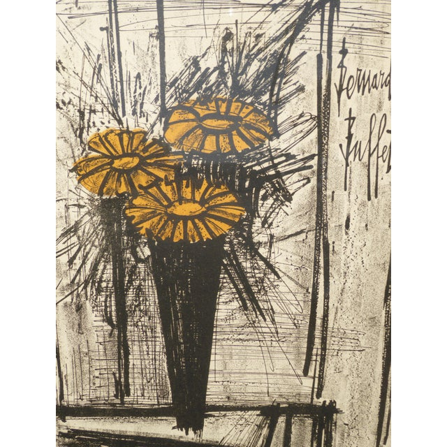 Vintage Mid Century Modern Style Lithograph by Famed Artist Bernard Buffet For Sale - Image 10 of 12