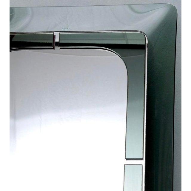 Italian Mid Century Fontana D'Arte Green Frame Wall Mirror - Image 5 of 6