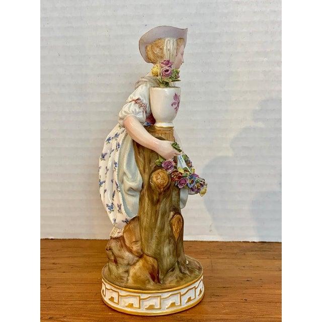 Meissen Porcelain Fine Late 19th Century Meissen Figurine of a Lady Gardener For Sale - Image 4 of 13