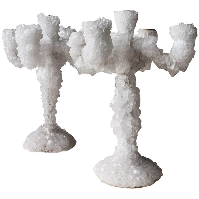 2010s Pair of Crystal Overgrown Candelabras, Mark Sturkenboom For Sale - Image 5 of 5