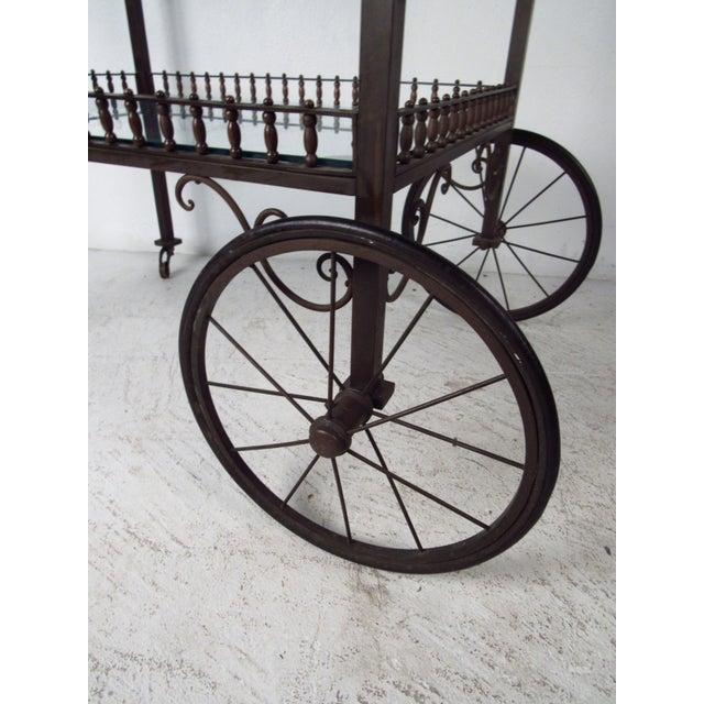 2000 - 2009 Ornate Vintage Bar or Tea Cart For Sale - Image 5 of 11