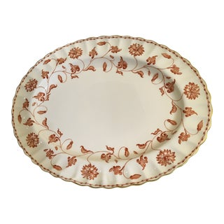 "English Spode Colonel Red Porcelain Serving Platter 14"" For Sale"