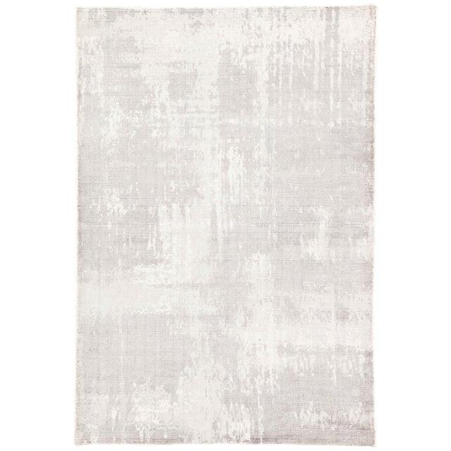 Jaipur Living Arabella Handmade Abstract Light Gray White Area Rug 5'X8' For Sale In Atlanta - Image 6 of 6